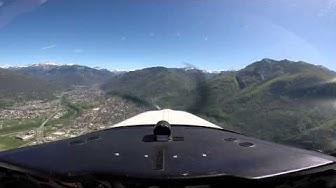 Beechcraft Bonanza V35B TC - Locarno (LSZL) to Lodrino Airbase (LSML) with ATC - 22 04 2015