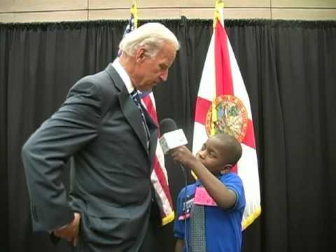 5th Grade Reporter Interviews Vice-President Joe Biden