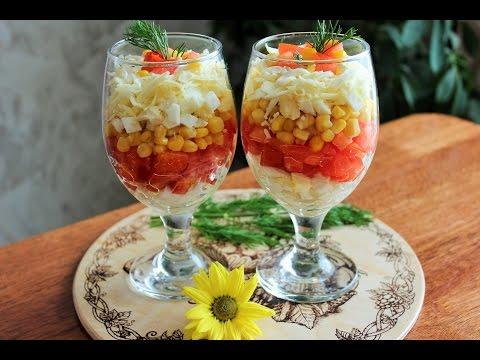 Вкусные салаты-коктейли с фото