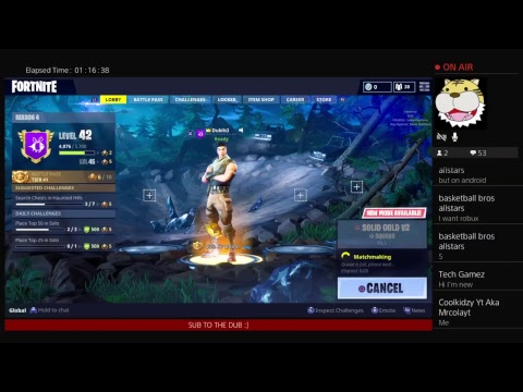 ACTING LIKE A NOOB | Live Fortnite Gameplay | Sub for Sub | Dub TV