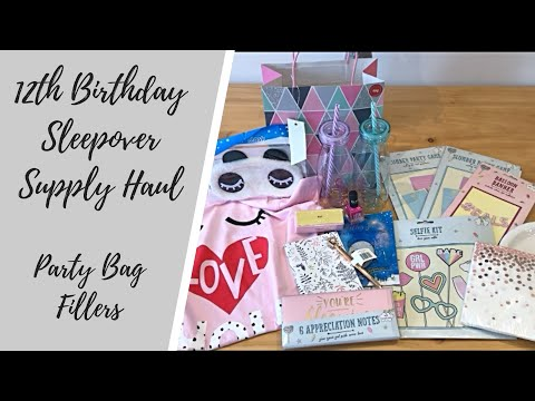 12th Birthday Sleepover Supply Haul | Party Bag Fillers