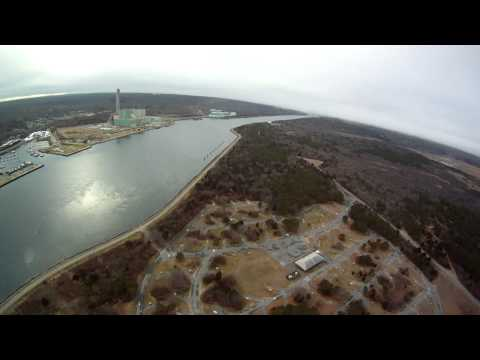 FPV - Scusset Beach. Flying Over Cape Cod Canal - first fpv in 2013