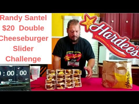 Randy Santel $20 Hardee's Charbroiled Double CheeseBurger Value Meal Challenge
