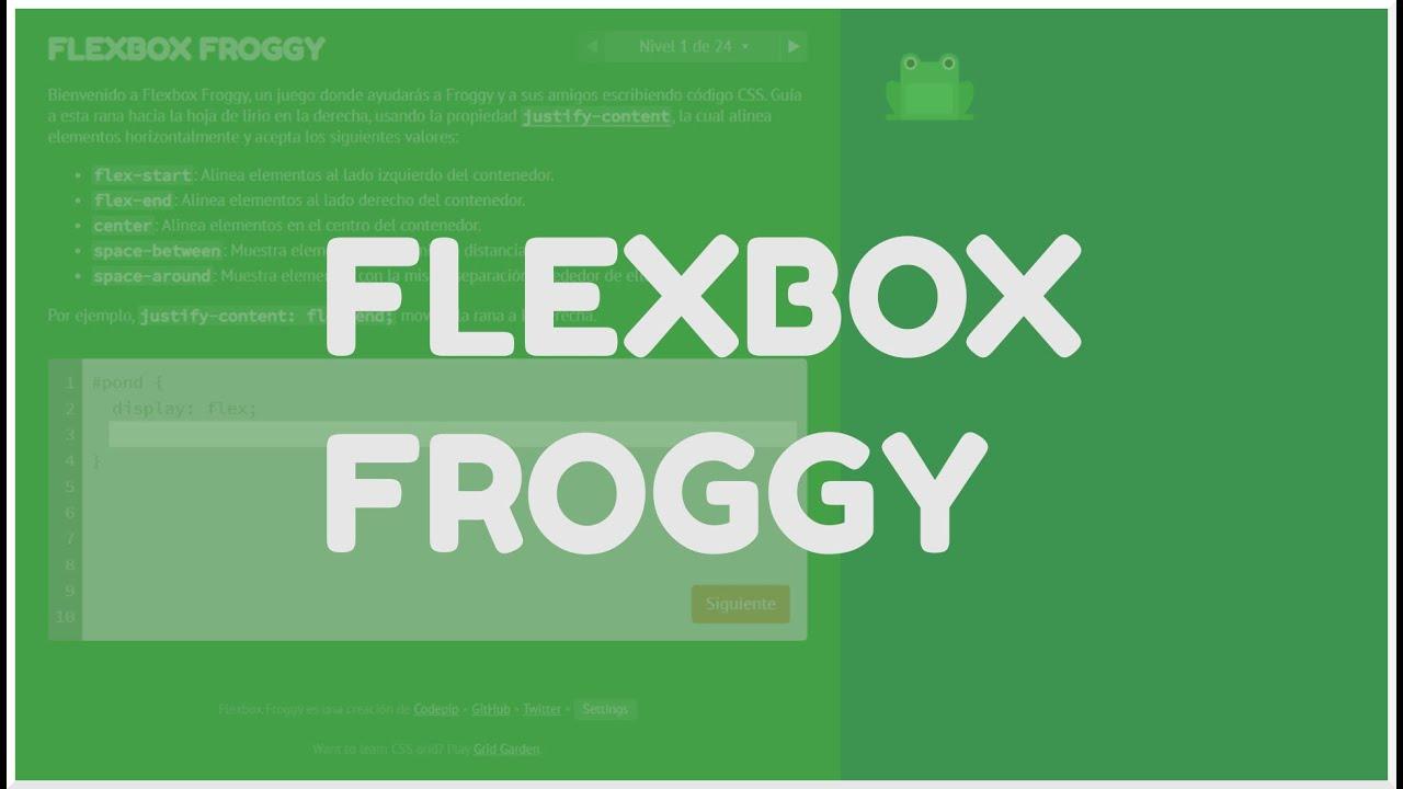 Flexbox Froggy   Juego para aprender Flexbox