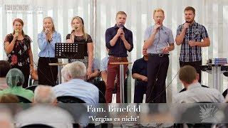 "FECG Lahr - Fam. Binefeld - ""Vergiss es nicht"" - Bibelfestival 2018"
