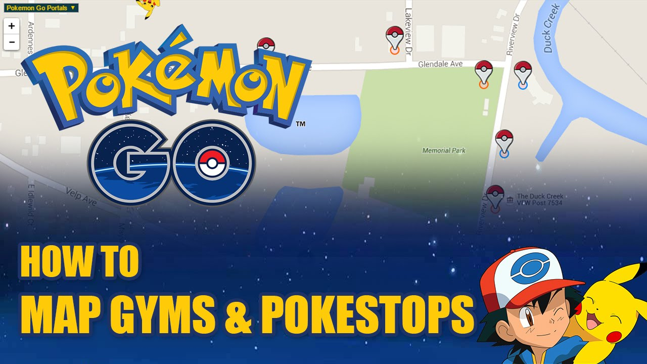 HOW TO: Map Pokestops & Gyms for Pokemon Go!