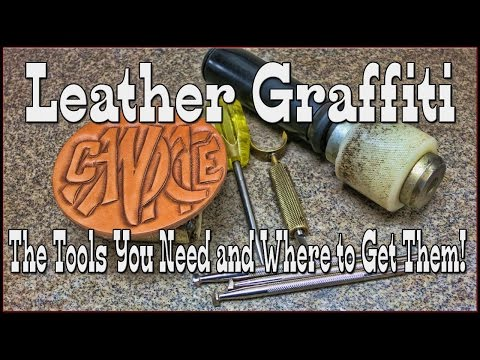 Carving Leather Graffiti Art - Lettering Tutorial - Leathercraft - Freehand - Number 2