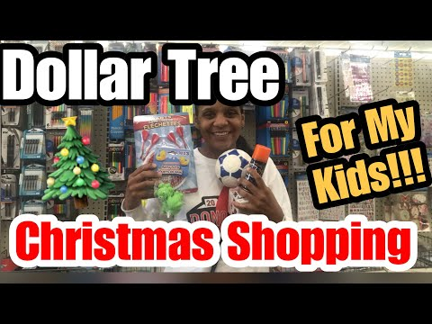 Dollar Tree Christmas Shopping For My Kids!