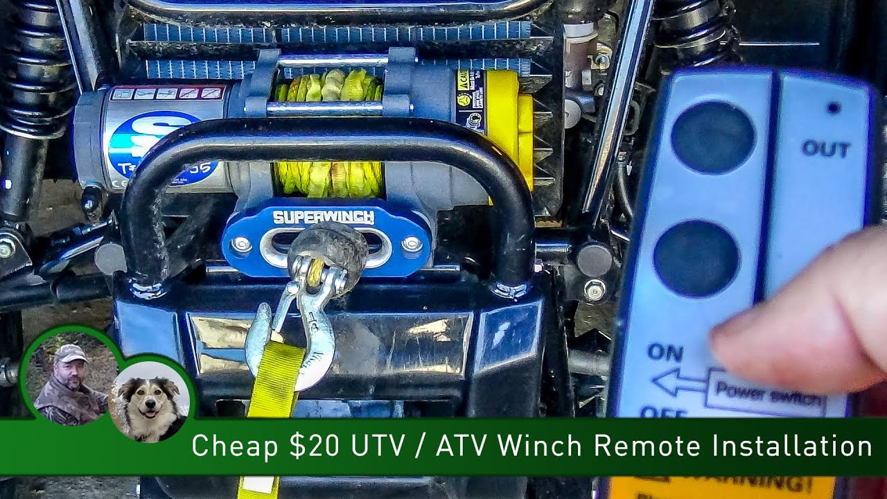 medium resolution of cheap 20 utv atv winch remote installation