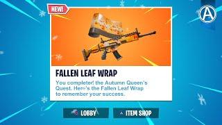 *NEW* Fallen Leaf Wrap! // 2900+ Wins - Fortnite Chapter 2 (Fortnite Battle Royale LIVE)