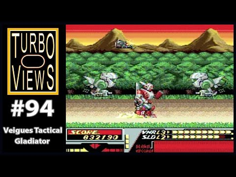"""Veigues Tactical Gladiator"" - Turbo Views #94 (TurboGrafx-16 / Duo game REVIEW!)"