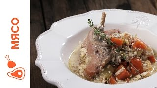 Кролик, Запеченный в Сливках с Овощами || iCOOKGOOD on FOOD TV || Мясо