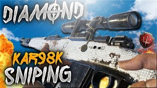 KAR98K DIAMOND CAMO SNIPING in COD WW2 CRAZY FEED!!