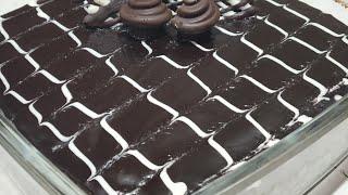 Eggless Chocolate Cake(Subtitle) || Oven Cake Decoration & Plating || ओवन में बिना अंडे चोकलेट केक
