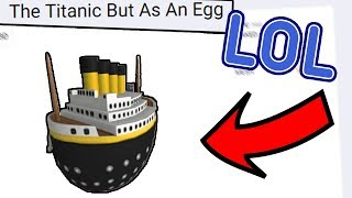 theres a titanic egg in the roblox egg hunt... THIS IS AWESOME! | Ozzers Oz