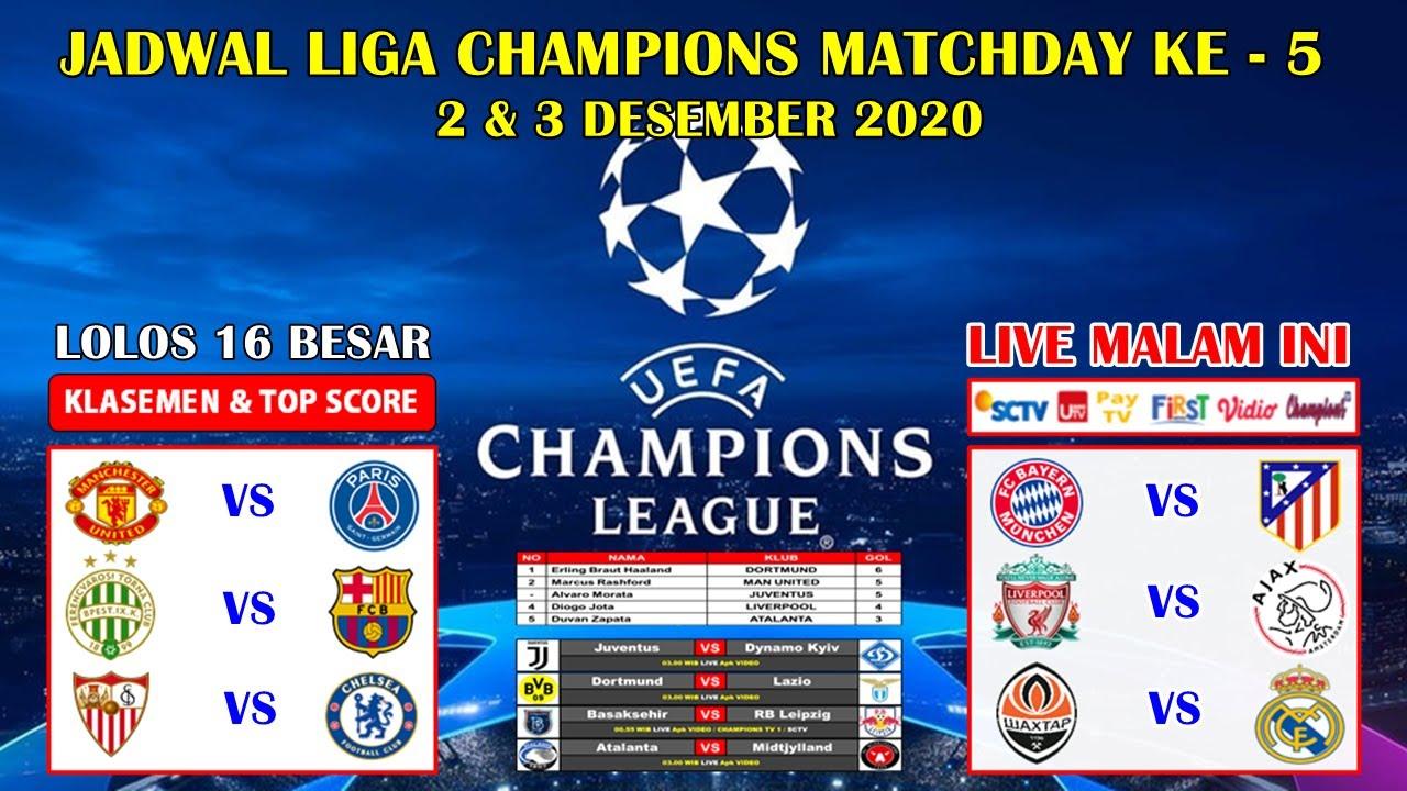 Jadwal Liga Champion Malam Ini Live Sctv Liverpool Vs Ajax Uefa Champions League 2020 2021 Youtube
