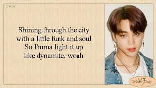 BTS (방탄소년단) - Dynamite (Lyrics)