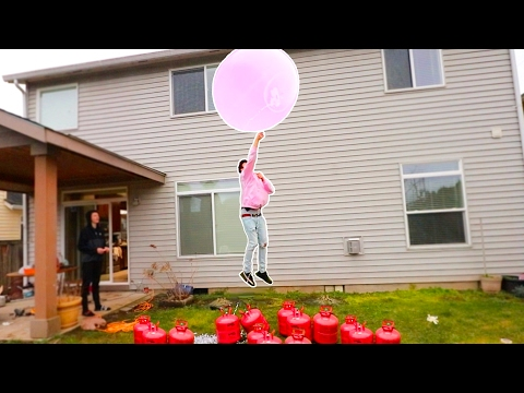 GIANT HELIUM WUBBLE BUBBLE CHALLENGE (INSANE)