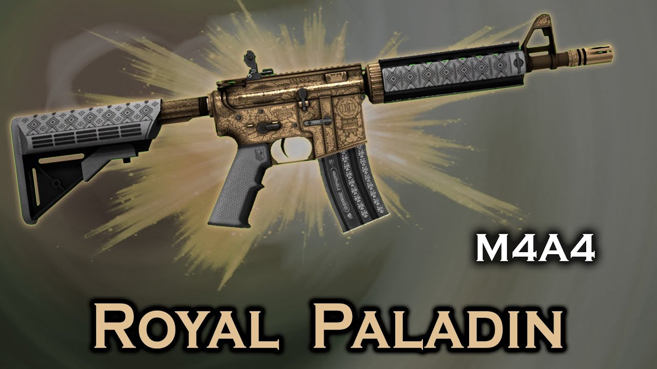 Royal Paladin M4A4 StatTrak stickers skin preview FN/MW/FT/WW/BS - YouTube