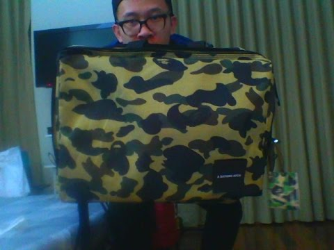 a798ef756088 Bape 3-Way Bag Review  Unbox  First Impression - YouTube