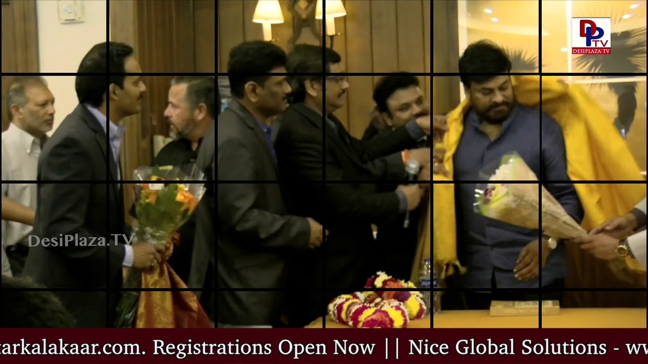 MegaStar Chiranjeevi meets FANS  during his visit to Dallas | DesiplazaTV