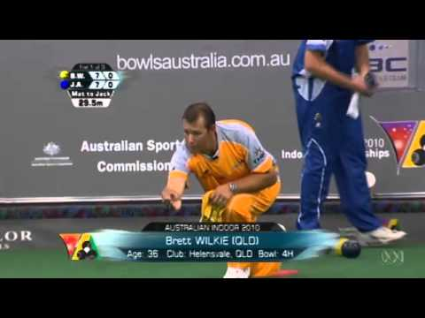 Lawn Bowls:2010 Indoor Men's Final Wilkie Vs Anderson