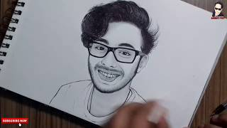 Carryminati Drawing|Ajey Nagar|Pencil Drawing AMRIT PUN 2018