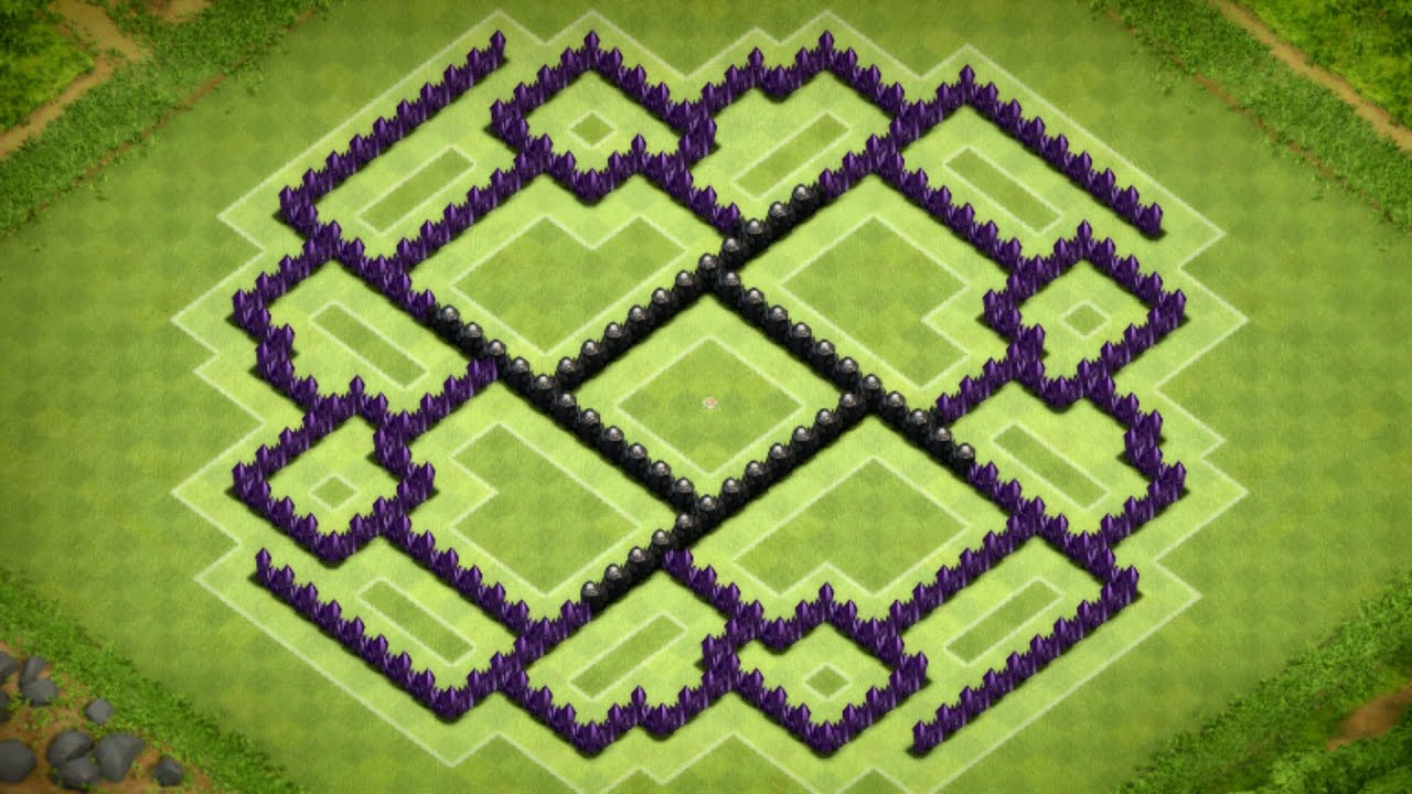 Clash Of Clans - Best Town Hall 9 Farming Base (The Ennead ...