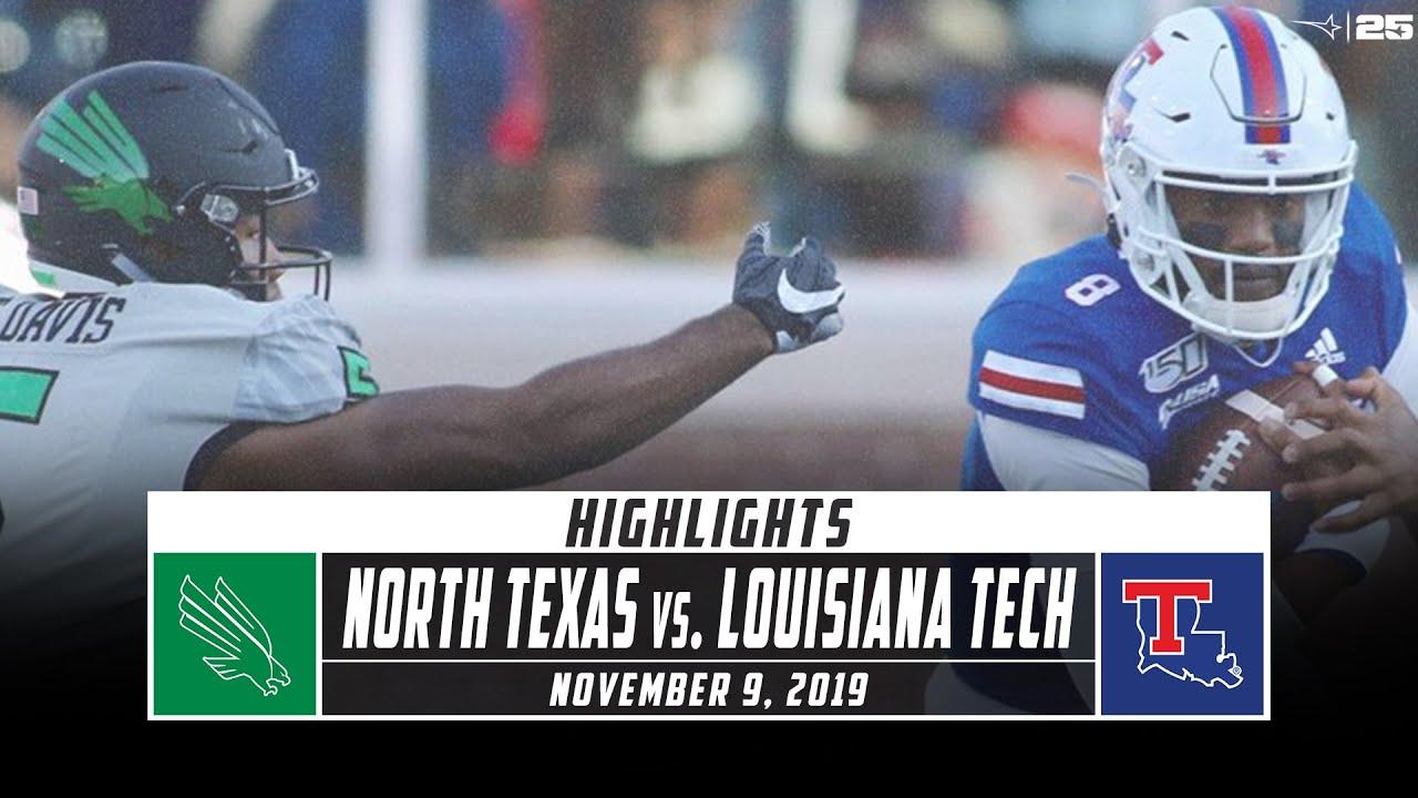 North Texas Vs Louisiana Tech Football Highlights 2019 Stadium Youtube