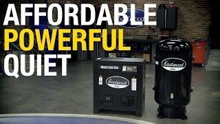 The PERFECT Shop Compressor? ELITE QST™ 80/120 SCROLL AIR COMPRESSOR: Quiet. Powerful. Affordable!