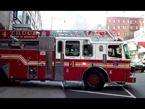 Fdny Ladder 4 Returning To Their Firehouse With A