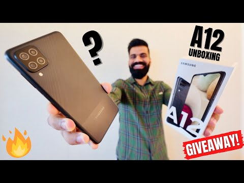 Samsung Galaxy A12 Unboxing & First Look | 48MP | 5000mAh | Giveaway🔥🔥🔥