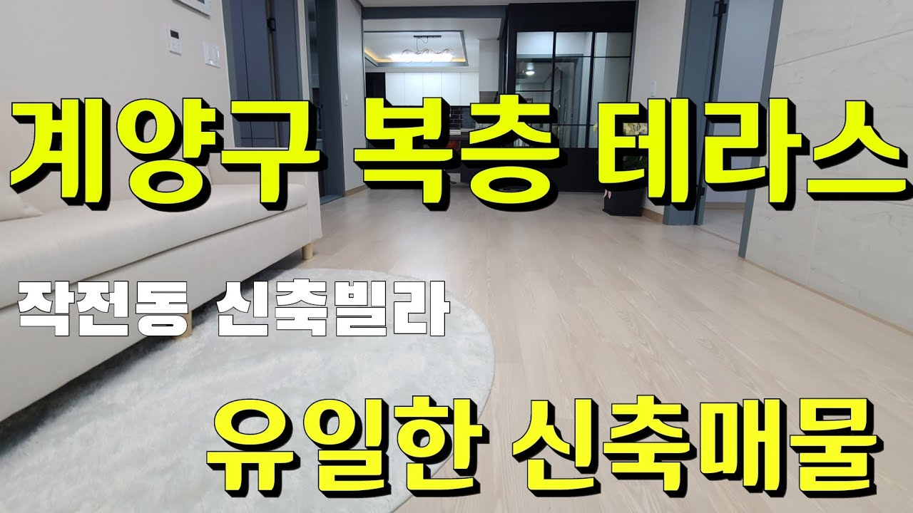 작전동 신축빌라 복층 테라스 매매 분양 | 신혼집 애완견 반려견 키우기좋은집