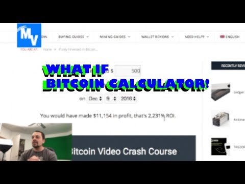 What If You Had Invested In Bitcoin Calculator