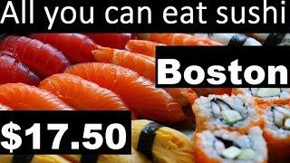 Sushi Buffet: All you can eat sushi for $17.50 Boston Copley Square #sushi #foodporn
