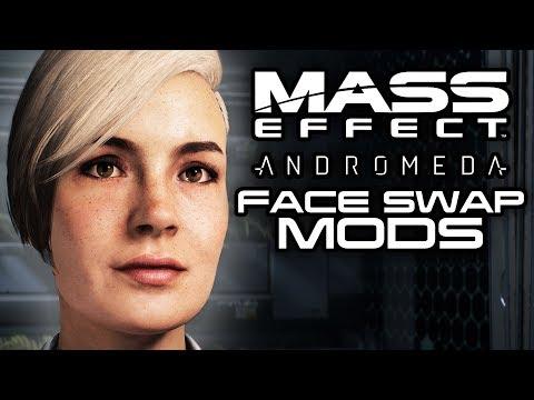 MASS EFFECT ANDROMEDA: Face Swap Mods Add Alternative Looks for Squad! (Mass Effect Andromeda Mods)