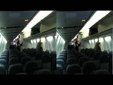 3D HD Inside 757-300 Continental Airlines Economy Cabin Boeing United Coach