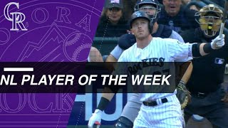 National League Player of the Week: Trevor Story