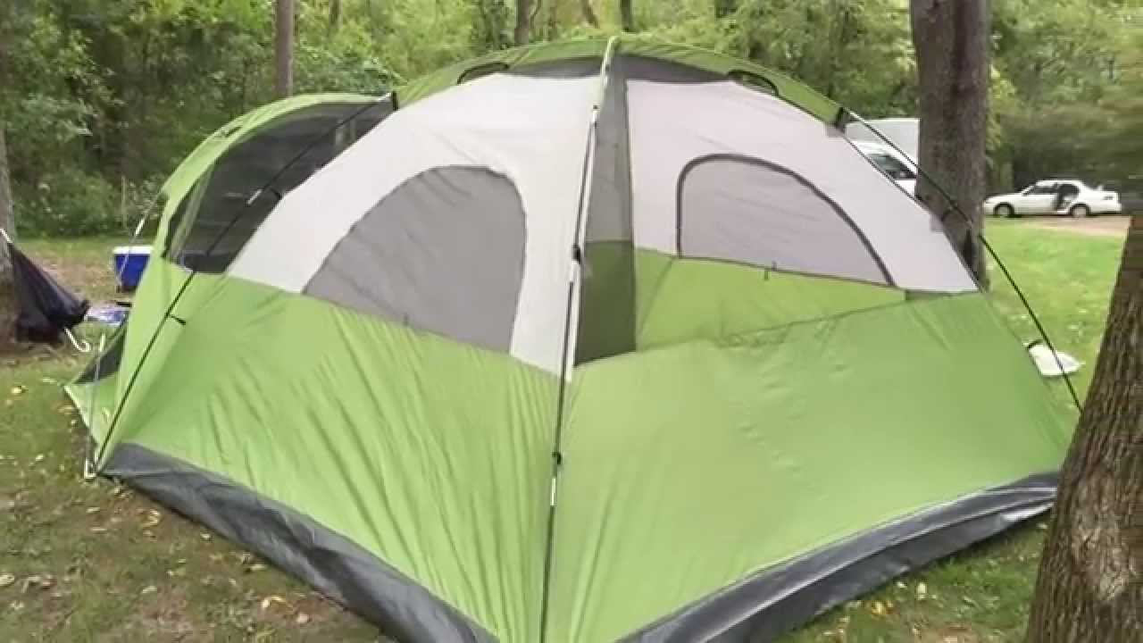& Coleman Evanston 6 Screened Tent - YouTube