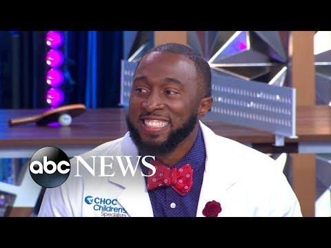 Real-life 'Dancing Doctor' livens up hospital stays for kids