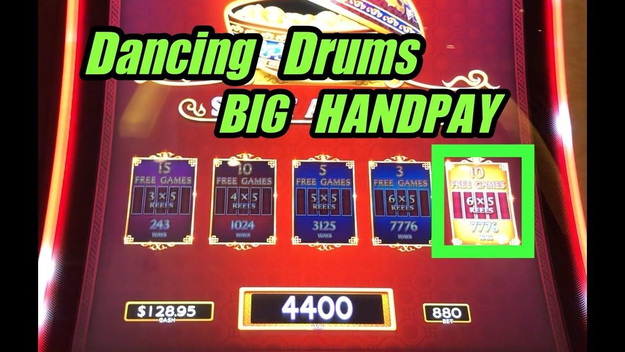 Big Handpay On Dancing Drums Slot Machine Lock It Link