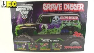 Traxxas 1/10th scale Monster Jam Grave Digger unboxed