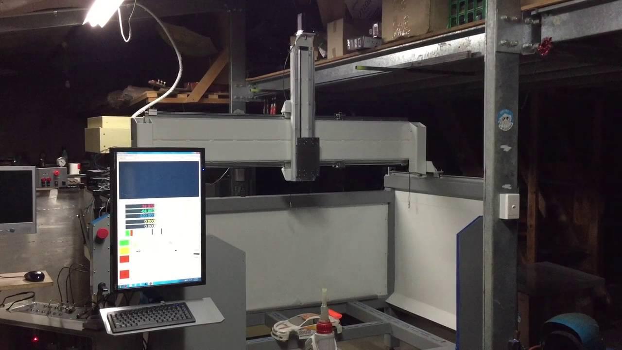 5 Axis CNC Router Mach4 Test