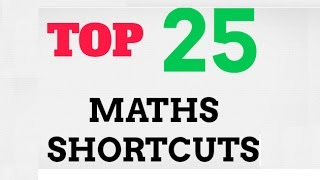 Top 25 maths shortcuts in english