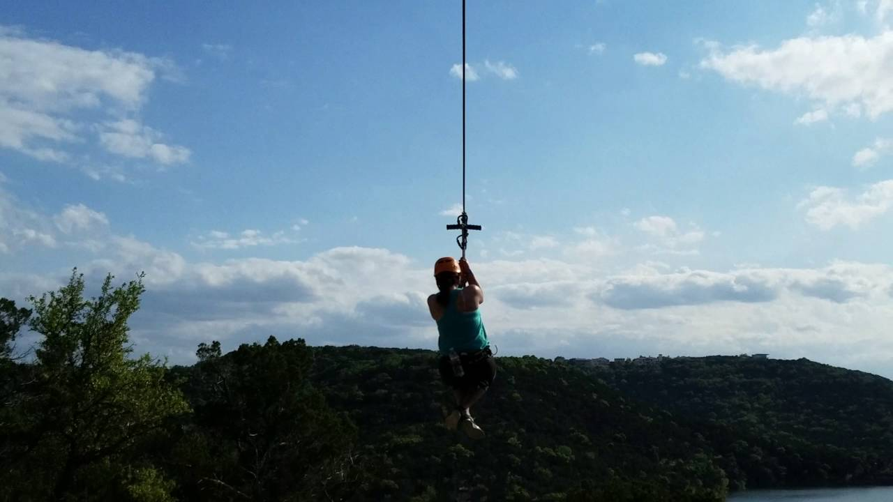 Lake Travis Zipline Austin TX & Lake Travis Zipline Austin TX - YouTube