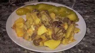 Жареные опята с картошкой. Грибы жареные. Как же это вкусно!
