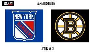 NHL Highlights   New York Rangers vs  Boston Bruins   Jan  19, 2019