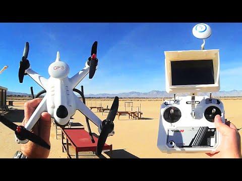 Flying 3D X6 Plus GPS FPV Drone Range Return and Flight Time Testing