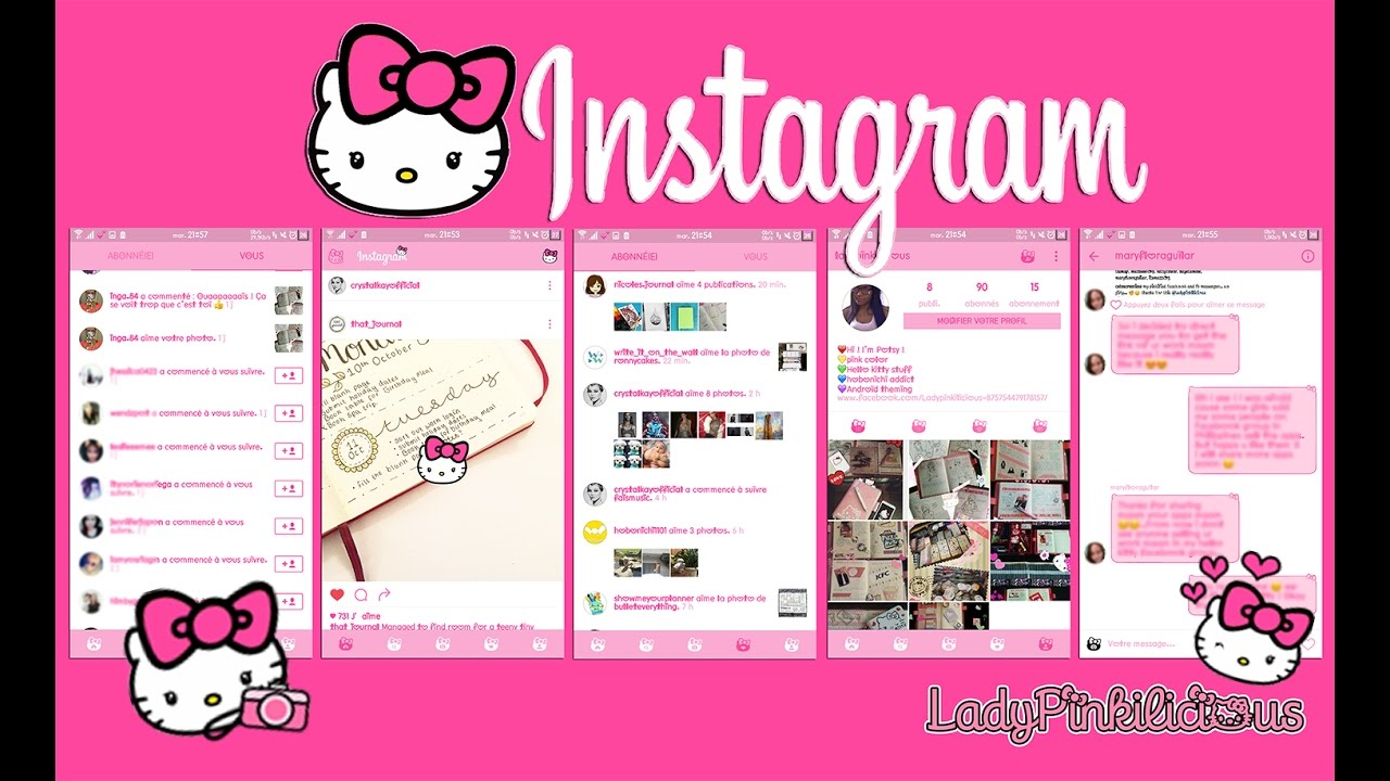 Hello Kitty Instagram for Android FREE !!!❤️