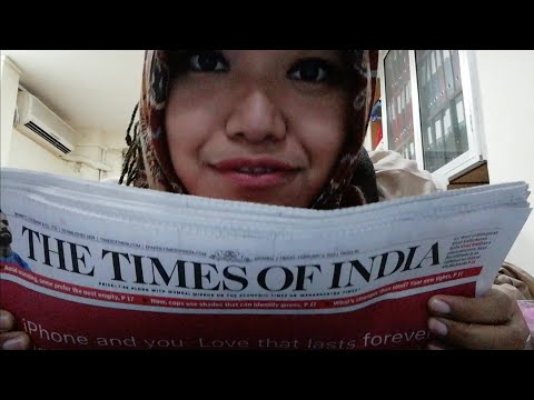 [ASMR] reading real news/articles from times of India